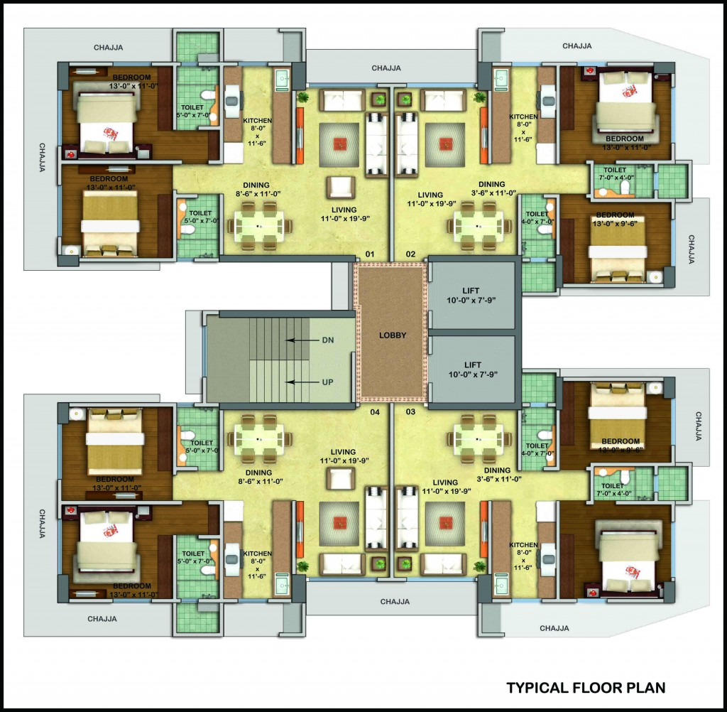 WESTERN WOODS - TYPICAL FLOOR PLAN